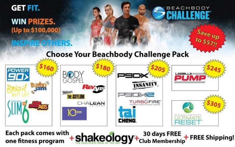 Beachbody Challenge Packs